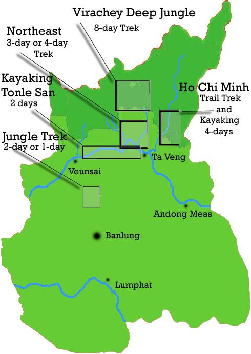 Ratanakiri Map Cambodia