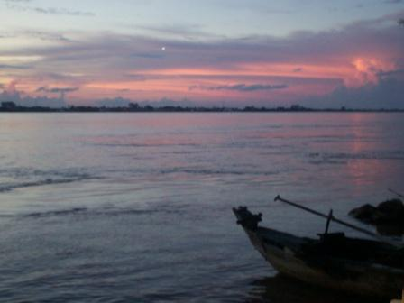 Fishing Boat on the Mekong River