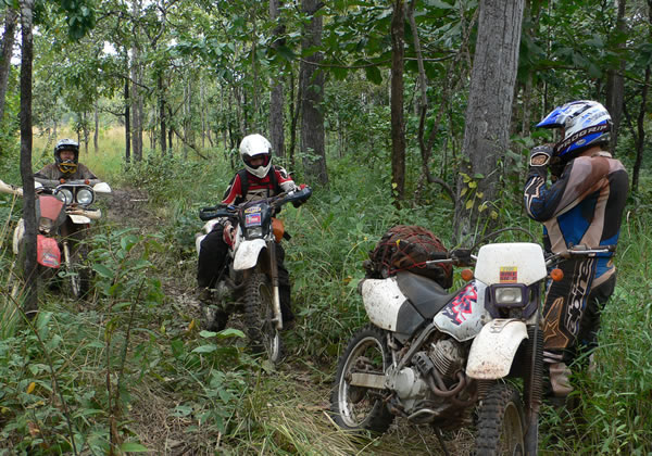 off road dirt bike tour Northern Cambodia
