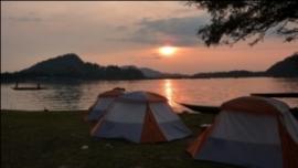 mekong river camping